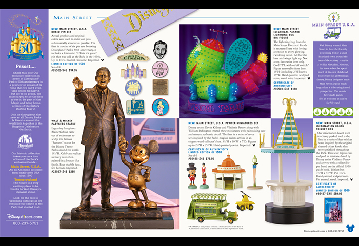 Disney Catalog Disneyland Mini Catalog Layout