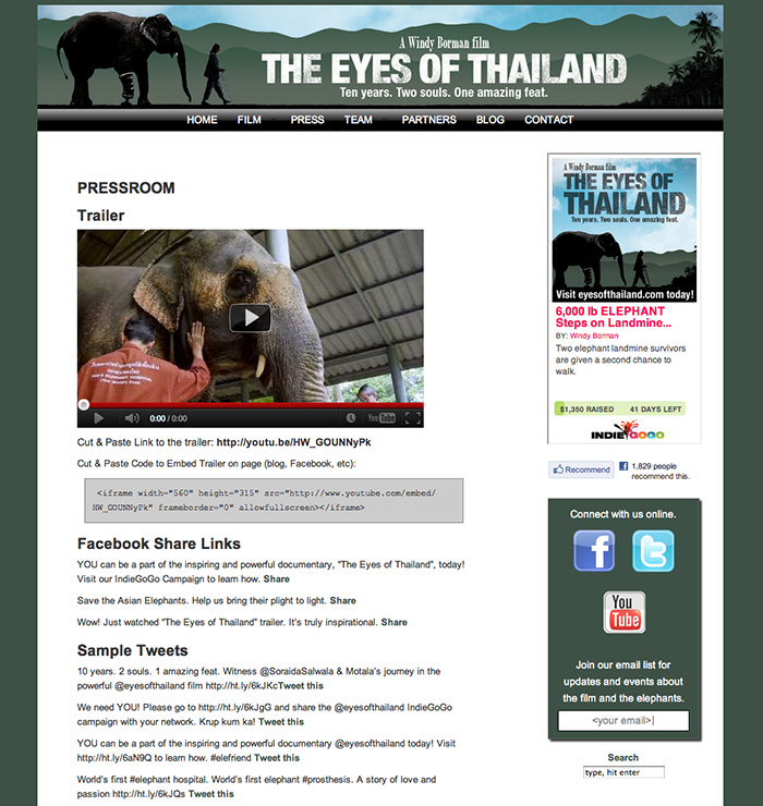 Eyes Of Thailand- Press page