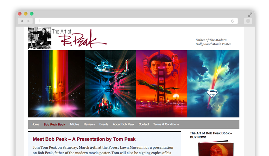 Bob Peak Website