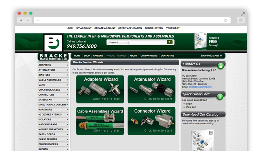 Bracke Manufacturing Company Website