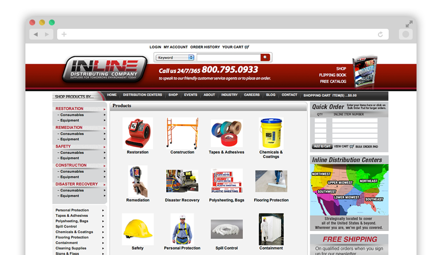 Inline Distributing Company Website