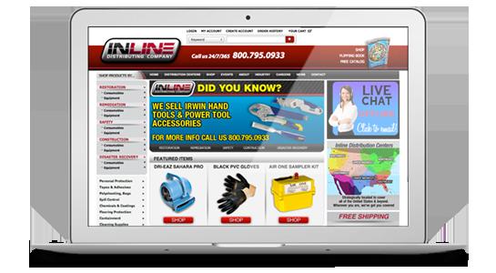 Inline Distributing Company Website