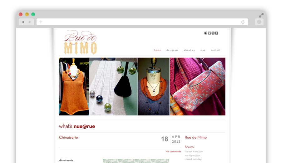 Rue de Mimo Website