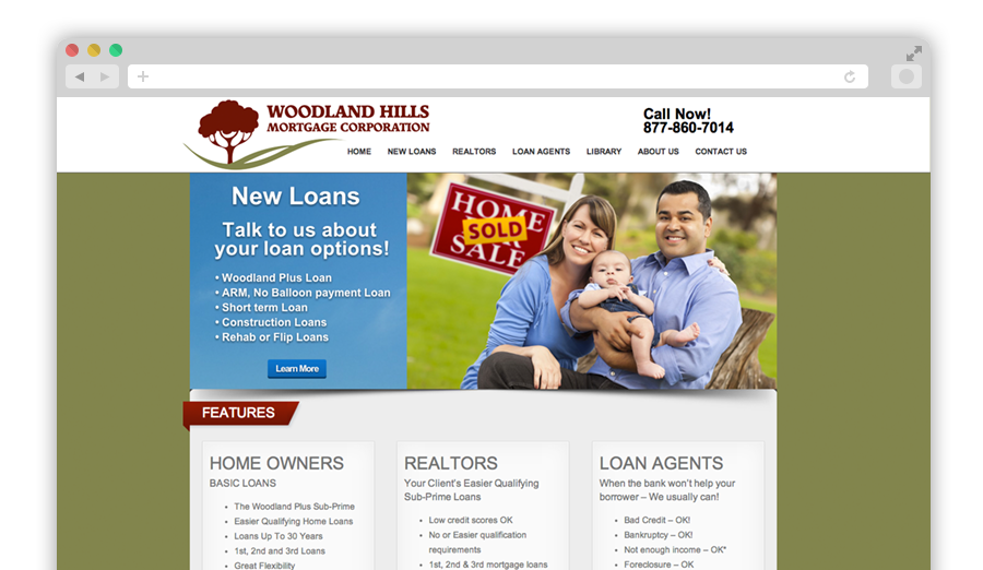 Woodland Hills Mortgage Company Website