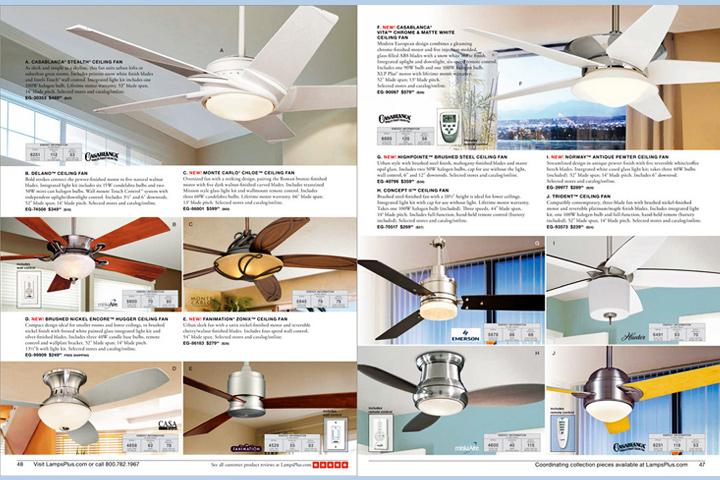 Lamps Plus Catalog Layouts
