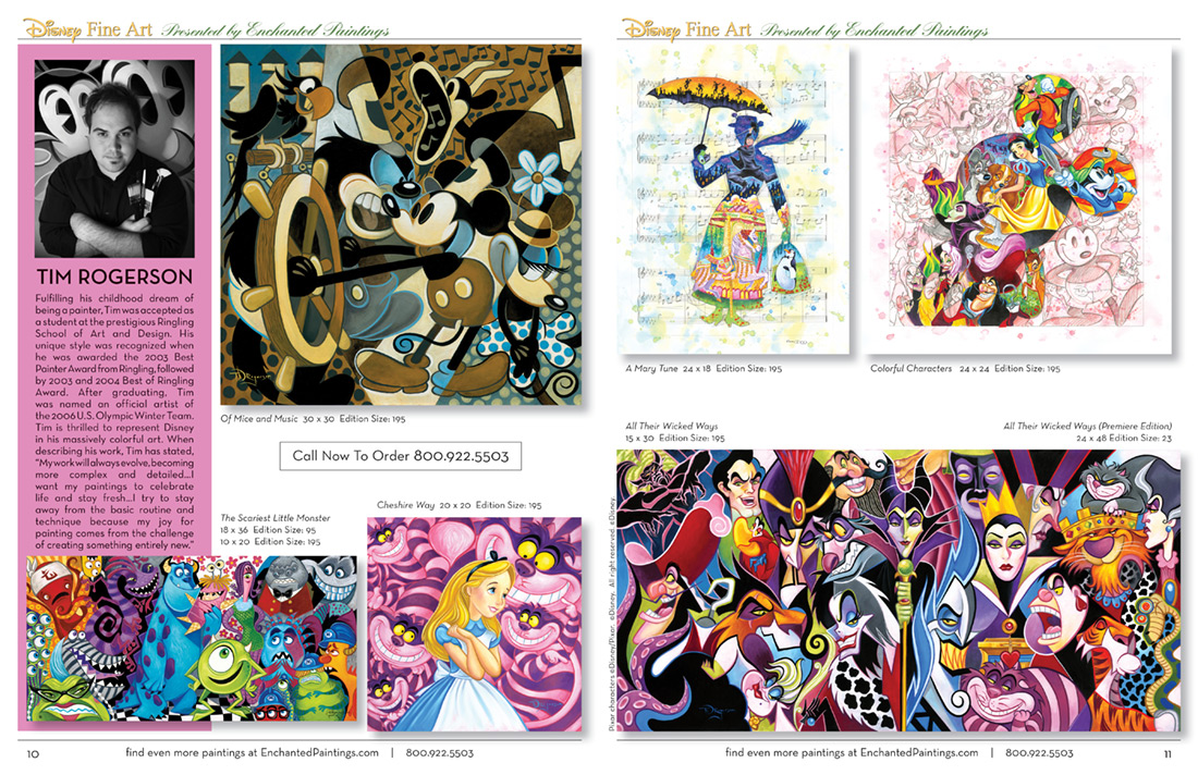 Enchanted Paintings Disney Artists Catalog - pg10-11