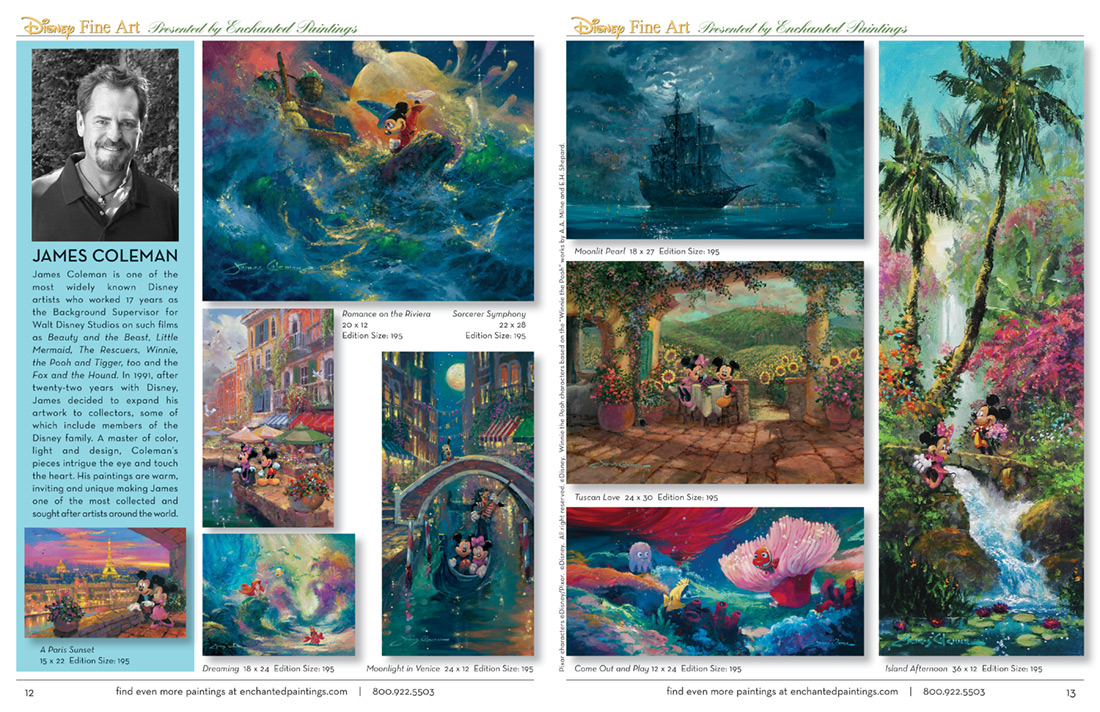 Enchanted Paintings Disney Artists Catalog - pg12-13