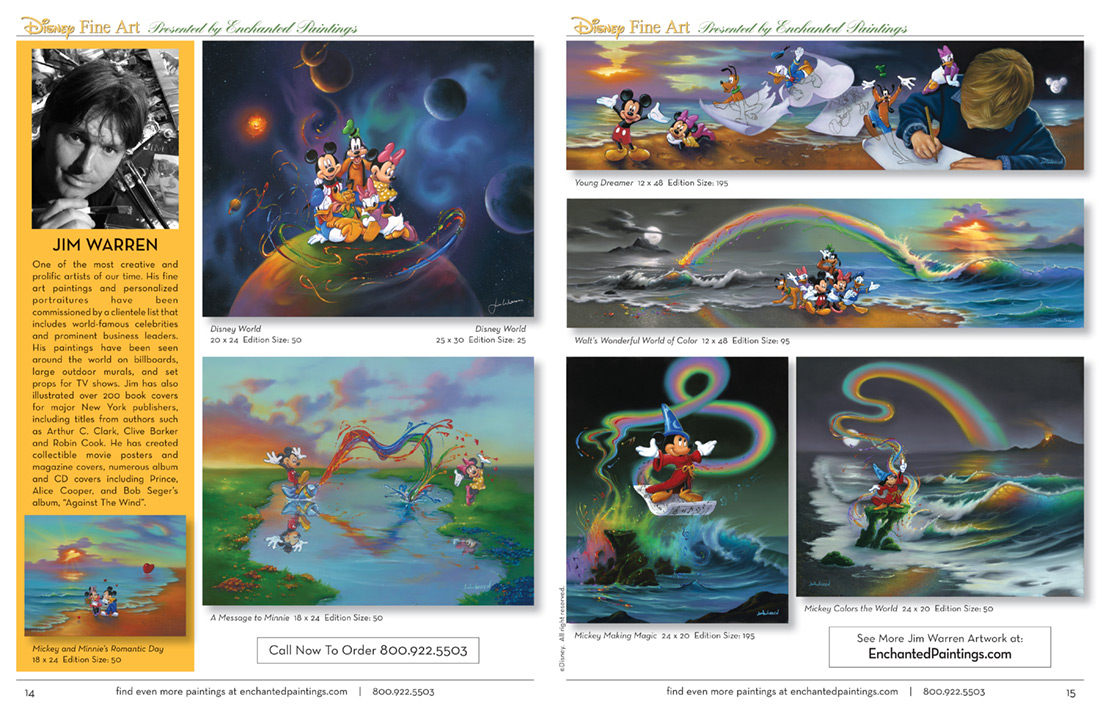 Enchanted Paintings Disney Artists Catalog - pg14-15