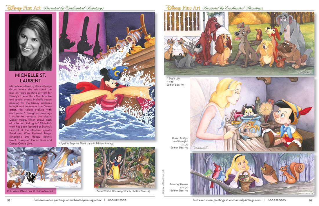 Enchanted Paintings Disney Artists Catalog - pg18-19