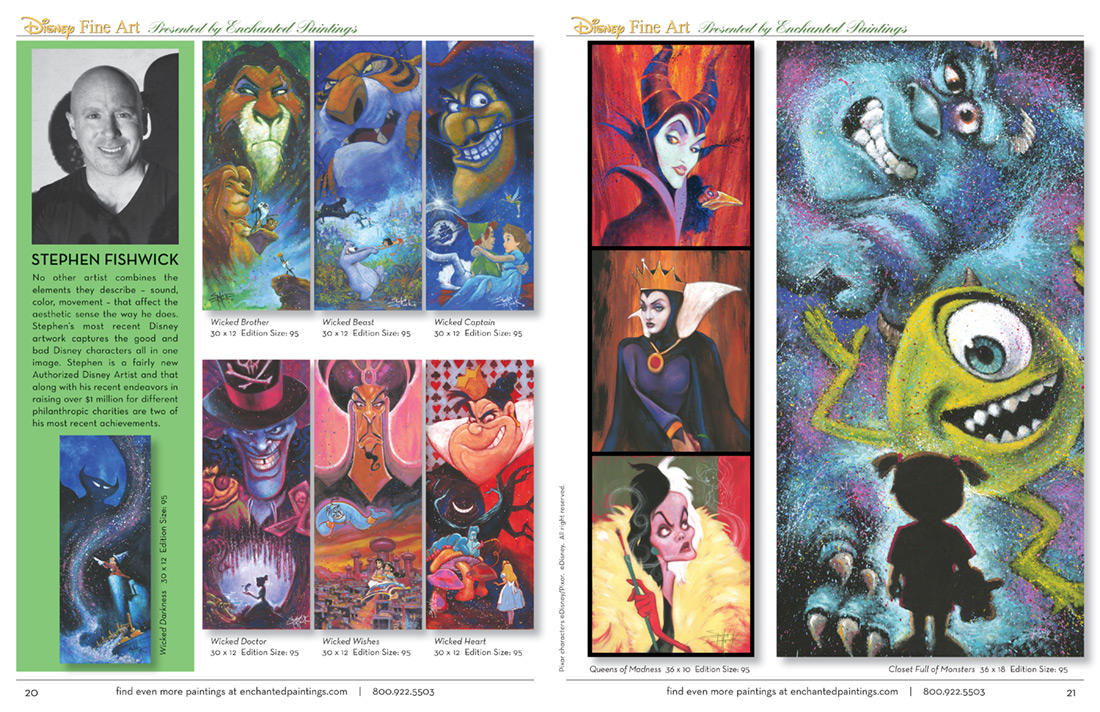 Enchanted Paintings Disney Artists Catalog - pg20-21