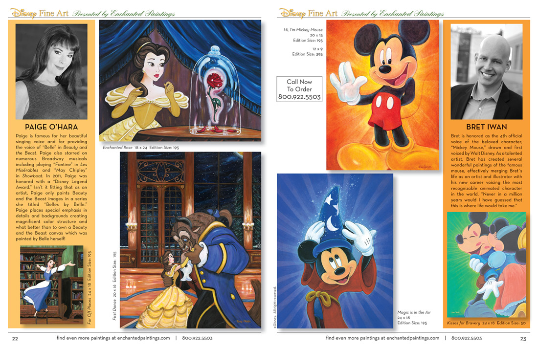 Enchanted Paintings Disney Artists Catalog - pg22-23