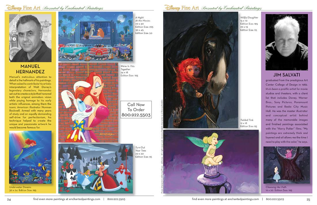 Enchanted Paintings Disney Artists Catalog - pg24-25