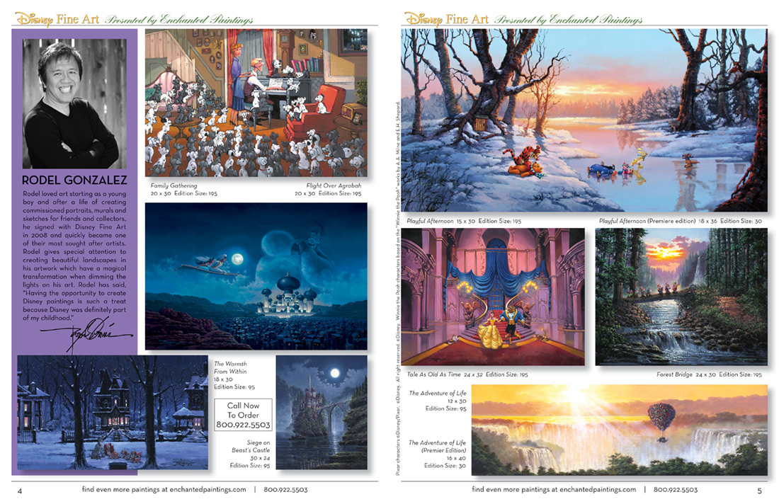 Enchanted Paintings Disney Artists Catalog - pg4-5