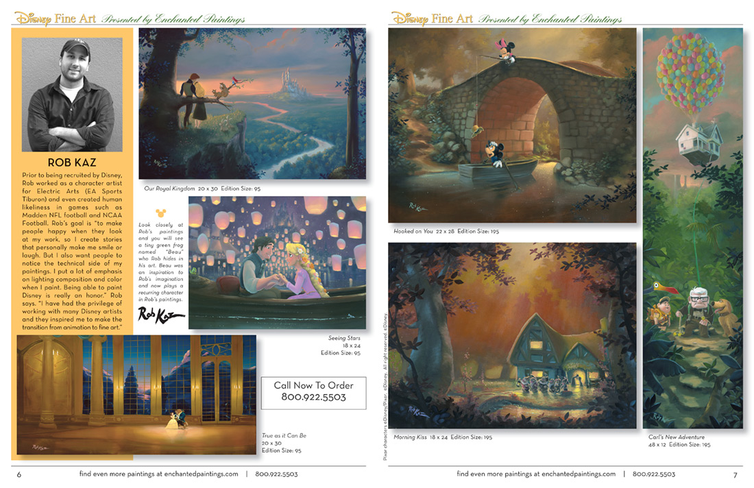 Enchanted Paintings Disney Artists Catalog - pg6-7
