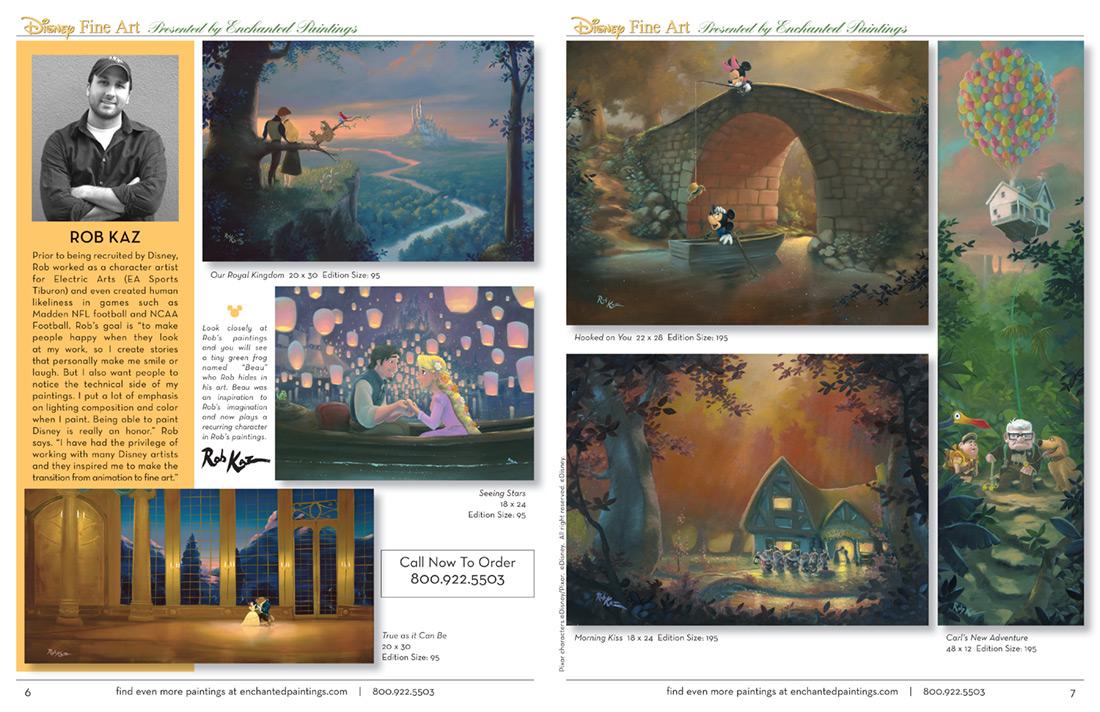 Enchanted Paintings Disney Artists Catalog - pg6-7