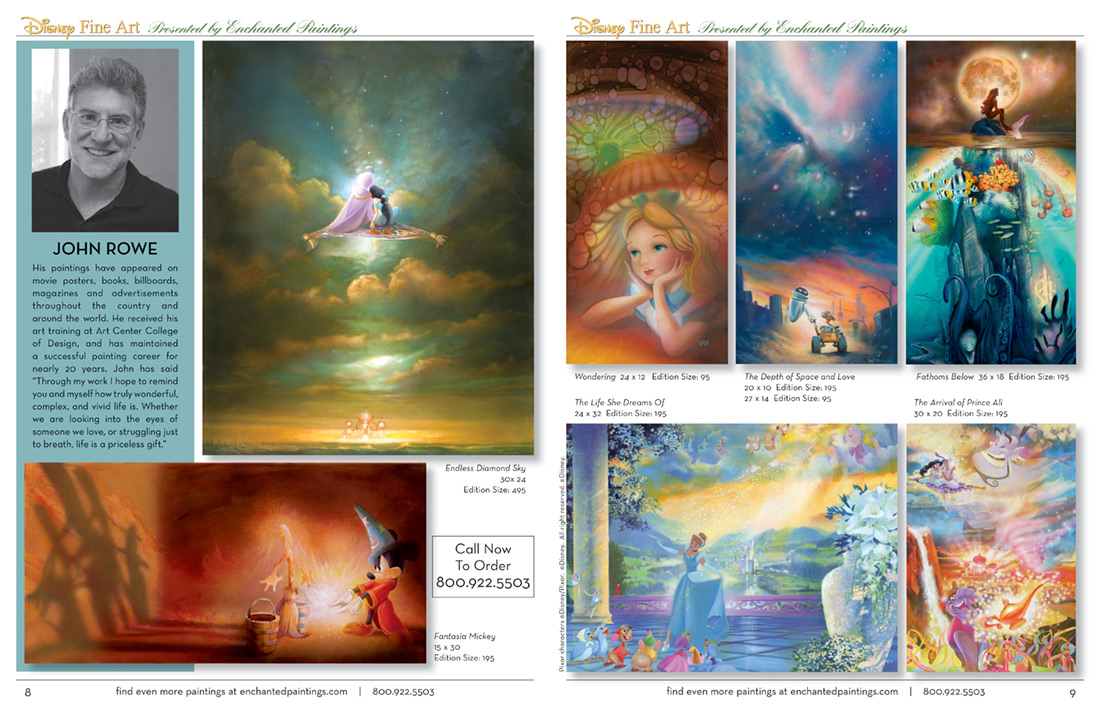 Enchanted Paintings Disney Artists Catalog - pg8-9