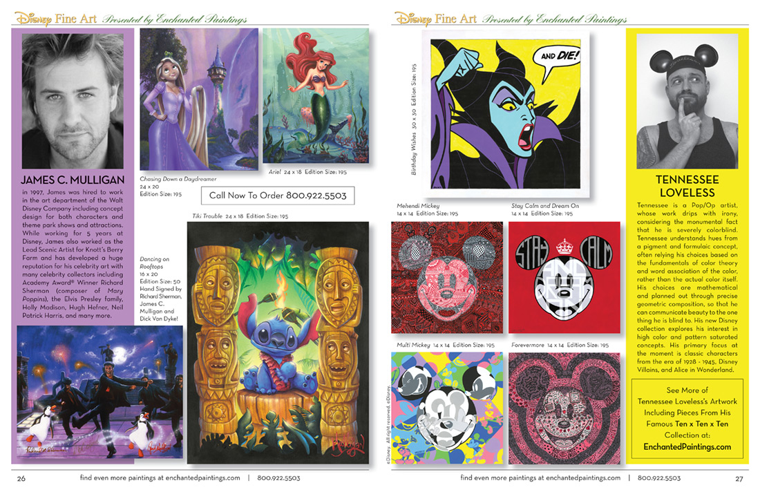 Enchanted Paintings Disney Artists Catalog -pg26-27