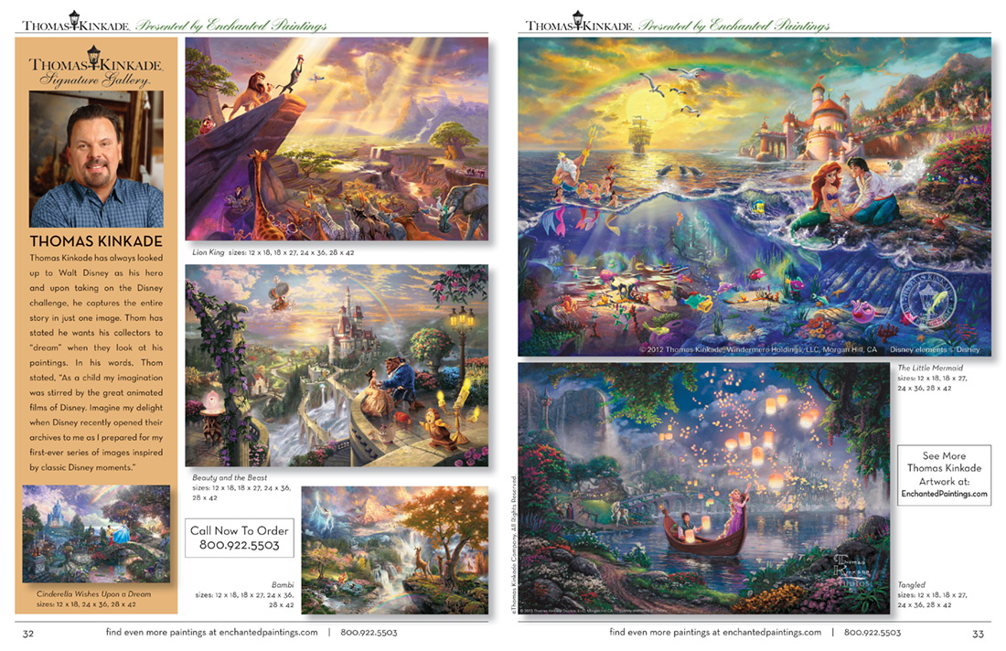Enchanted Paintings Disney Artists Catalog -