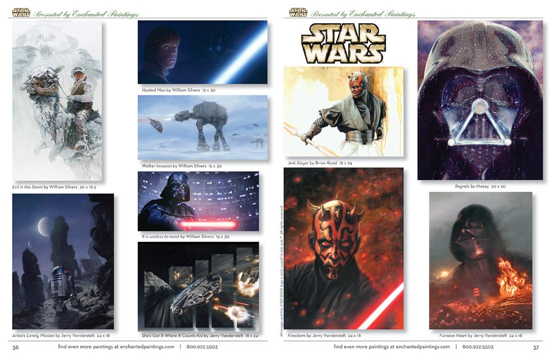 Enchanted Paintings Disney Artists Catalog - pg36-37-starwars