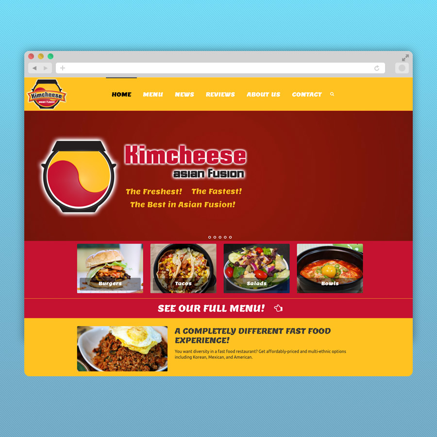 Kim Cheese Restaurant Website