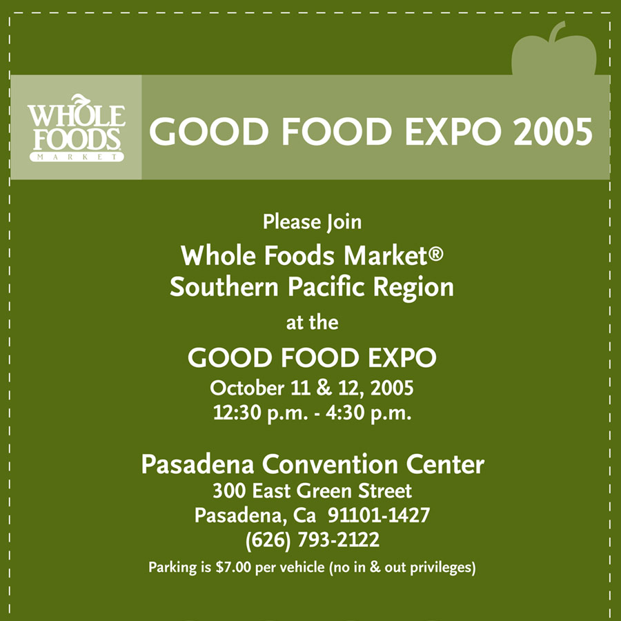 Whole Foods Expo Flyer