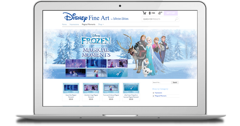 Disney Fine Art Shop Website