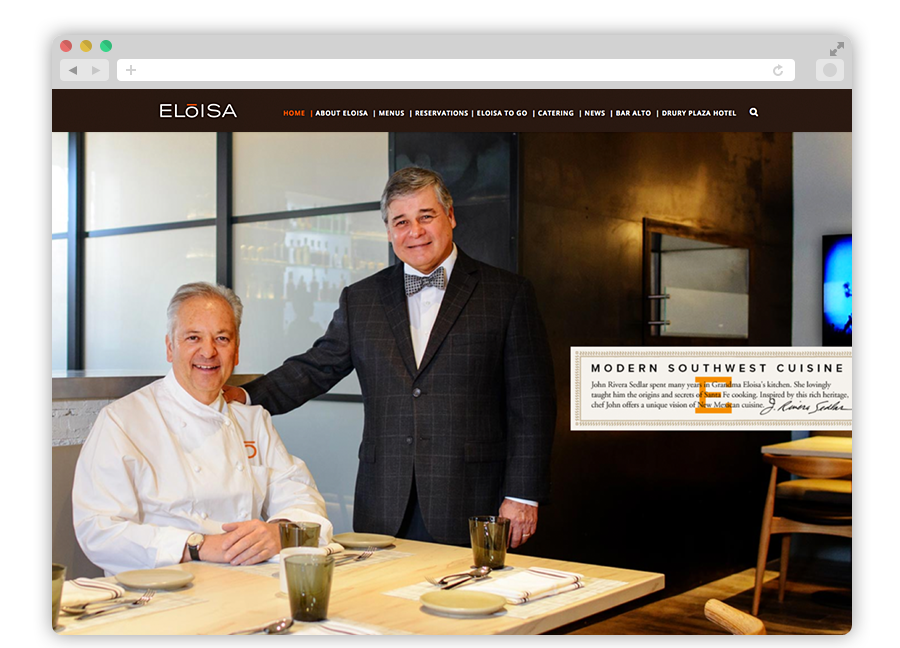 Eloisa Restaurant homepages