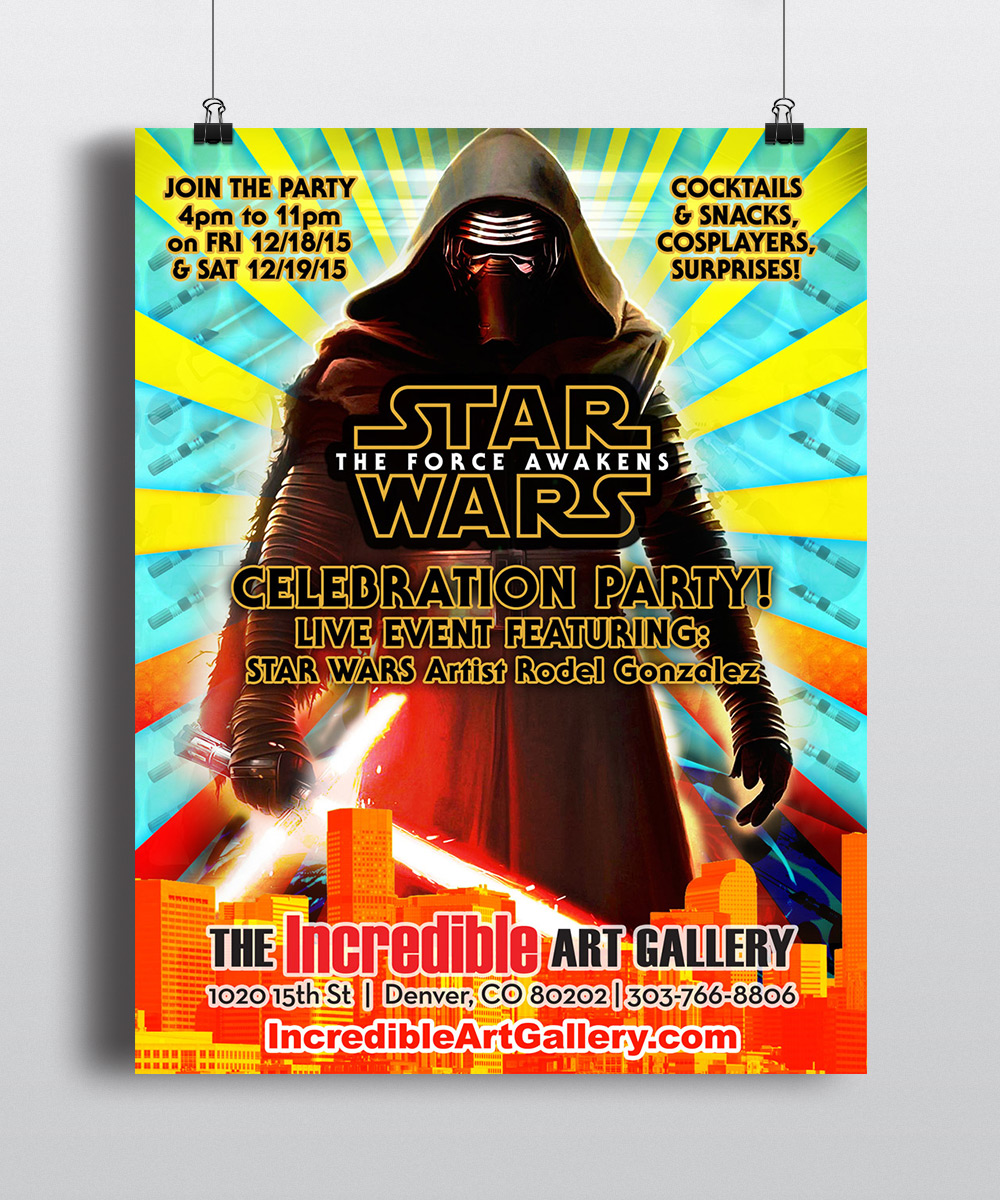 The Incredible Art Gallery Kylo Ren Poster Design by Seen Designs