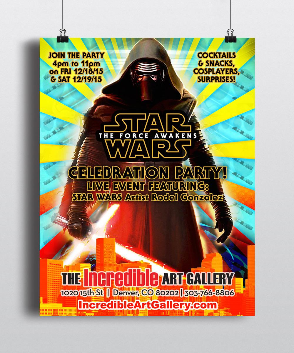 The Incredible Art Gallery Kylo Ren Poster Design by Seen Designs