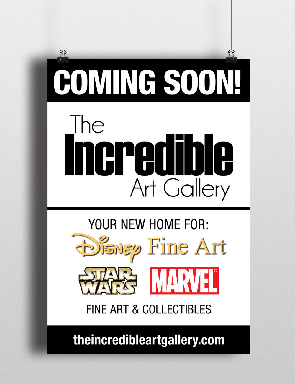 The Incredible Art Gallery Poster Design by Seen Designs