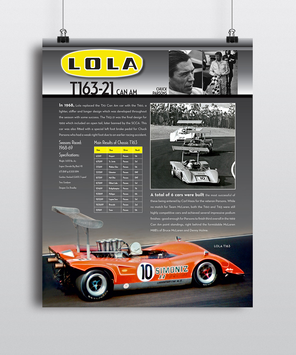 Lola T163 Museum Poster by Seen Designs