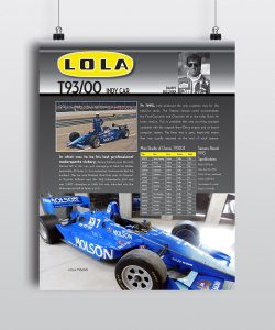 Lola T93-Museum Poster by Seen Designs