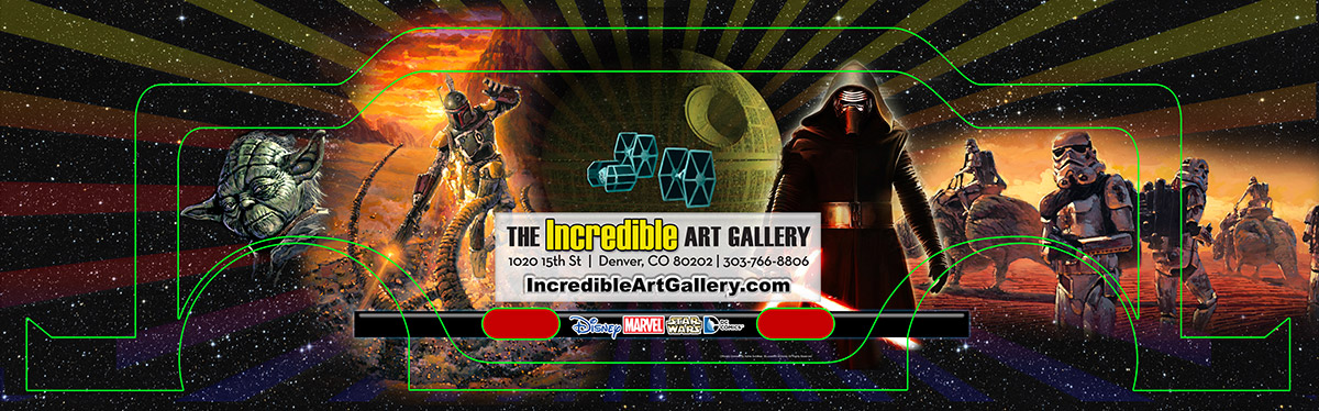 The Incredible Art Gallery Gift Certificate Design by Seen Designs Pedicab Full Wrap-with Guides