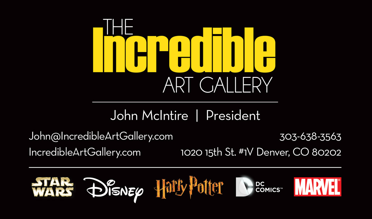 The Incredible Art Gallery Business Card Design by Seen Designs
