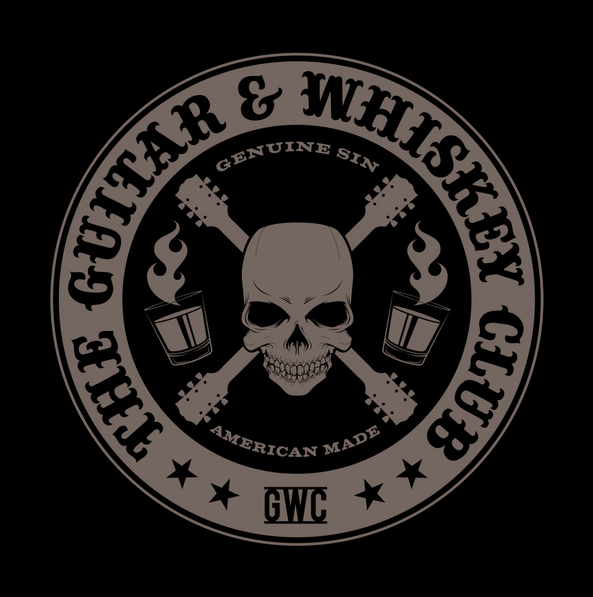 The Guitar and Whiskey Club Logo