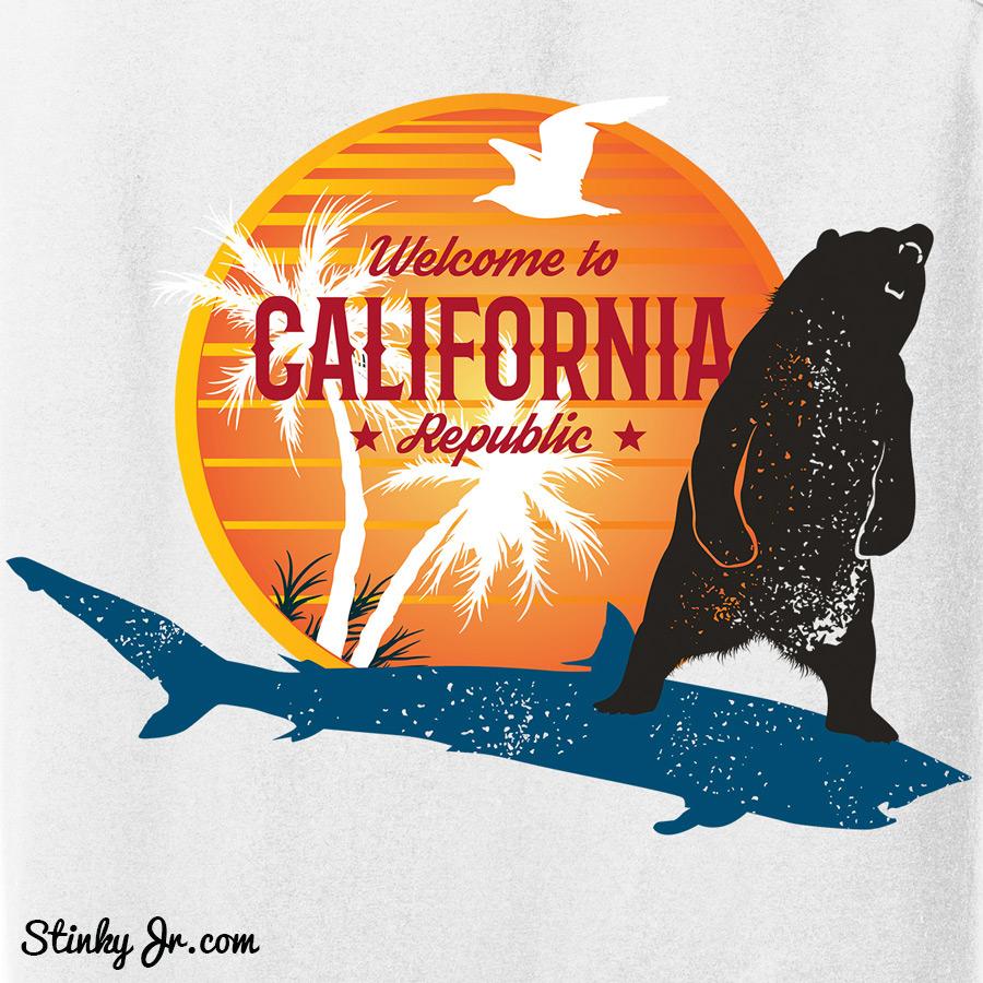 California Bear Shark T-shirt