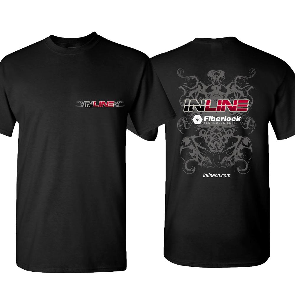 inline T-Shirt Designs Black